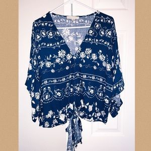 Boho Drape Top with Front Tie from VICI